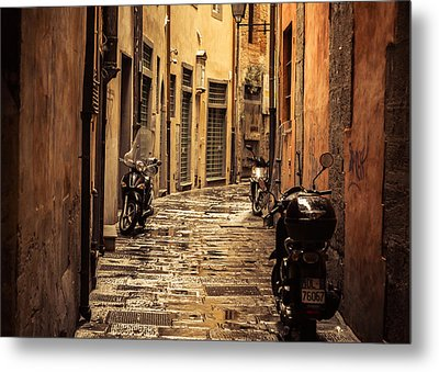 Motorcycle Alley Metal Print by Chris Fletcher