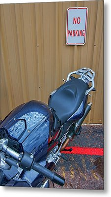 Metal Print featuring the photograph Motorcycle Privilege by Britt Runyon