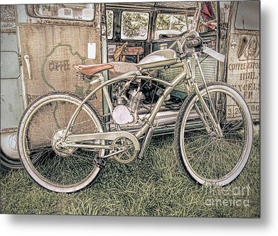 Motorized Bike Metal Print
