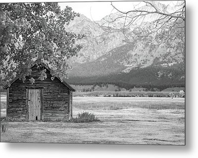 Metal Print featuring the photograph Moulton Homestead - Granary by Colleen Coccia