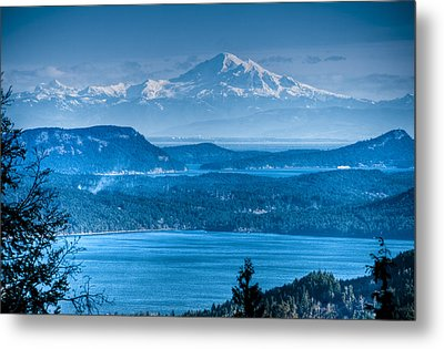 Mount Baker And The Gulf Islands Metal Print by R J Ruppenthal