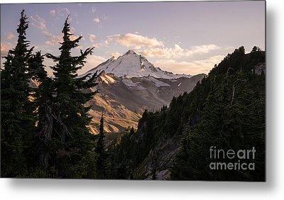 Mount Baker Beautiful Landscape Metal Print by Mike Reid