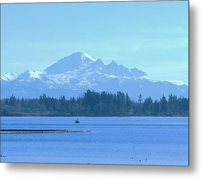 Mount Baker From The Spit Metal Print by James Johnstone