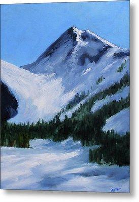 Metal Print featuring the painting Mount Baker Glacier by Nancy Merkle