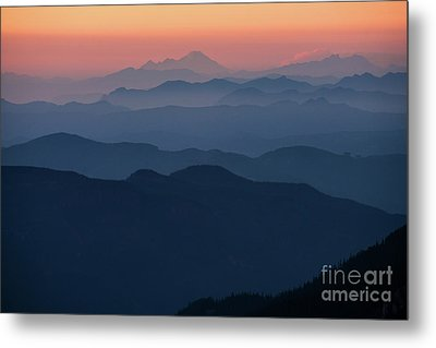 Mount Baker Sunset Landscape Layers Closer Metal Print by Mike Reid