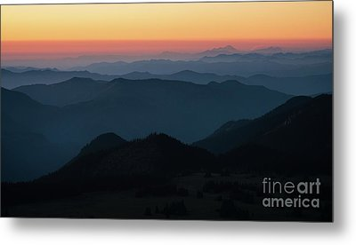 Mount Baker Sunset Landscape Layers Metal Print by Mike Reid