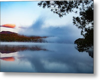Metal Print featuring the photograph Mount Chocorua Peeks Above The Fog by Jeff Folger