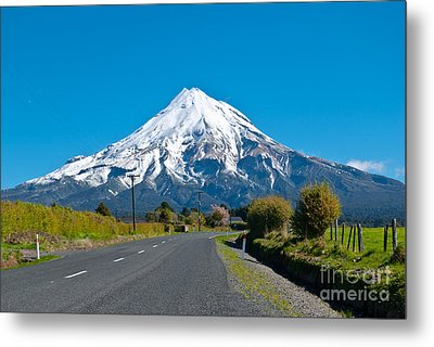 Mount Egmont Taranaki New Zealand Metal Print