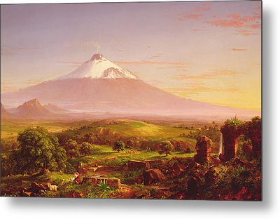 Mount Etna Metal Print by Thomas Cole