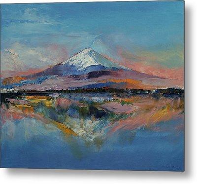 Mount Fuji Metal Print by Michael Creese