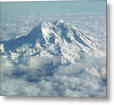 Mount Hood From Above Metal Print