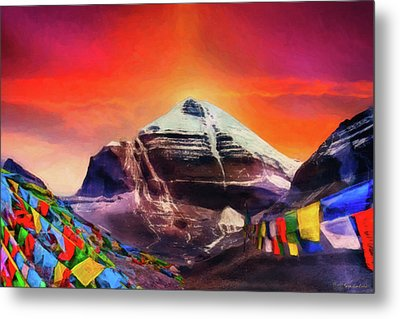 Mount Kailash - The Pillar Of The World Metal Print by Serge Averbukh