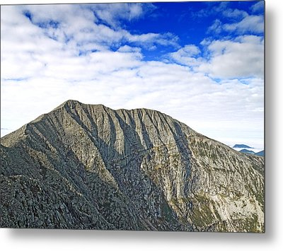 Mount Katahdin In Baxter State Park Maine Metal Print by Brendan Reals
