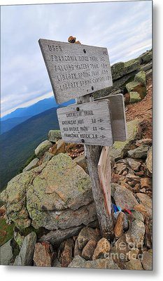 Mount Lafayette Summit Metal Print by Catherine Reusch Daley