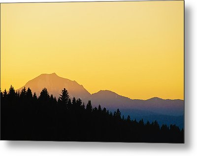 Mount Lassen At Sunset Metal Print by Sherri Meyer