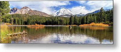 Metal Print featuring the photograph Mount Lassen Autumn Panorama by James Eddy