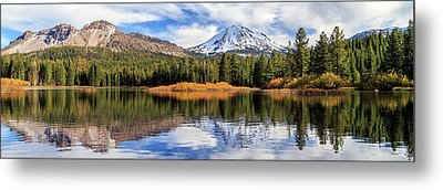 Mount Lassen Reflections Panorama Metal Print by James Eddy
