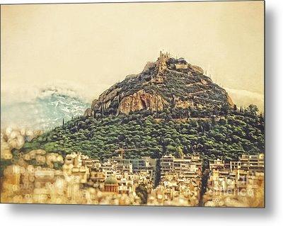 Mount Lycabettus Metal Print