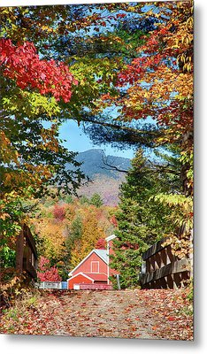 Metal Print featuring the photograph Mount Mansfield Seen Through Fall Foliage by Jeff Folger