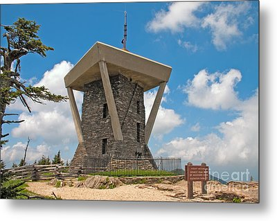 Mount Mitchell Summit Tower Metal Print by Steven Dillon