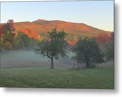 Mount Monadnock Autumn Morning Metal Print by John Burk