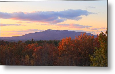 Mount Monadnock Autumn Sunset Metal Print by John Burk