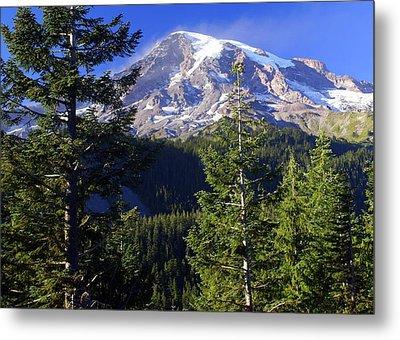 Mount Raineer 1 Metal Print by Marty Koch