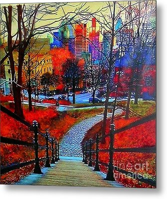 Mount Royal Peel's Exit Metal Print by Marie-Line Vasseur