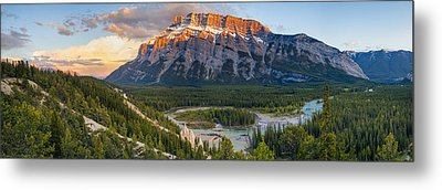 Mount Rundle Panorama Metal Print by Tomas Nevesely