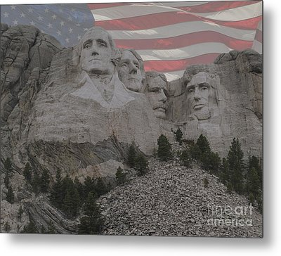 Mount Rushmore Metal Print by Juli Scalzi