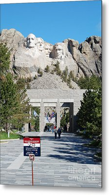Mount Rushmore National Monument Entrance South Dakota Metal Print by Shawn O'Brien
