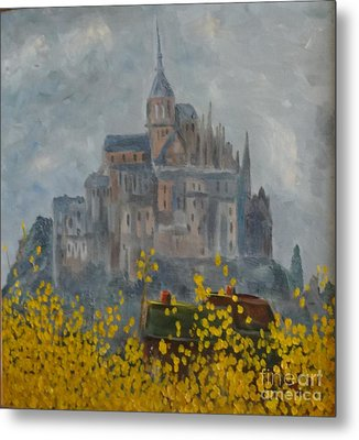 Metal Print featuring the painting Mount Saint Michael by Rod Ismay
