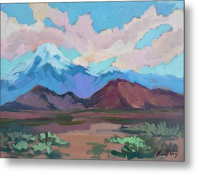 Metal Print featuring the painting Mount San Gorgonio by Diane McClary