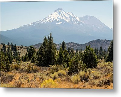 Metal Print featuring the photograph Mount Shasta And Shastina by Frank Wilson