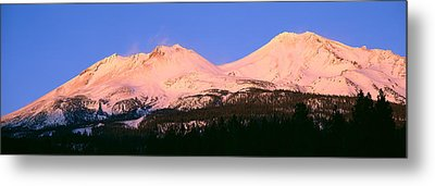 Mount Shasta At Sunset, California Metal Print by Panoramic Images