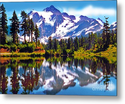 Mount Shuksan Washington Metal Print