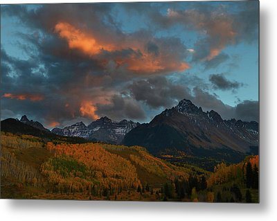 Metal Print featuring the photograph Mount Sneffels Sunset During Autumn In Colorado by Jetson Nguyen