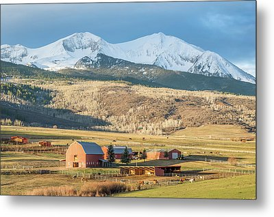 Metal Print featuring the photograph Mount Sopris Sunrise by Eric Glaser