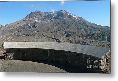 Metal Print featuring the photograph Mount St. Helen Memorial by Larry Keahey