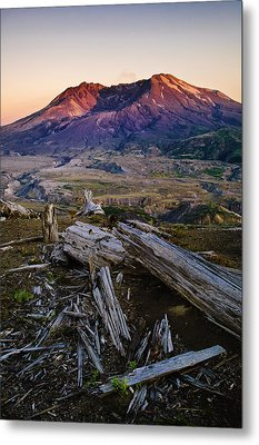 Mount St. Helens Sunset Metal Print by Greg Vaughn - Printscapes