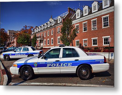 Mount Vernon Police Department Metal Print by June Marie Sobrito