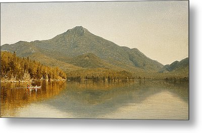 Mount Whiteface From Lake Placid Metal Print by Albert Bierstadt