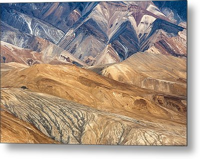 Mountain Abstract 4 Metal Print by Hitendra SINKAR