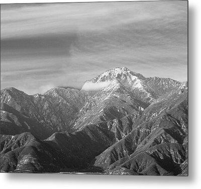 Mountain And Clouds Metal Print by Robert Hebert