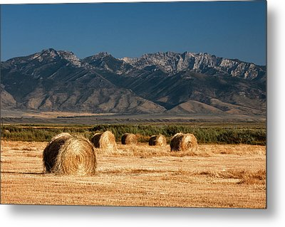 Mountain Bales Metal Print