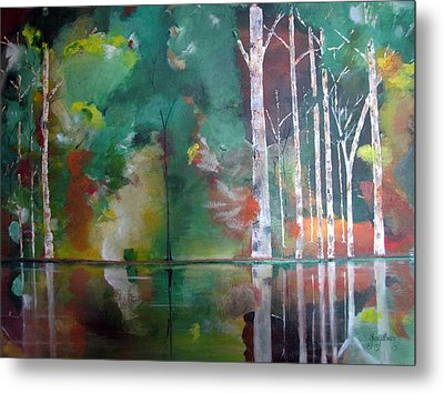 Metal Print featuring the painting Mountain Birch by Gary Smith