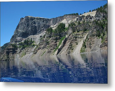 Metal Print featuring the photograph Mountain Blue by Laddie Halupa