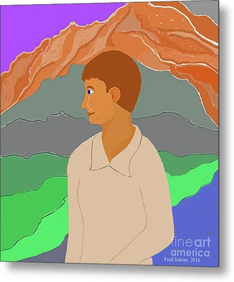 Mountain Boy Metal Print by Fred Jinkins