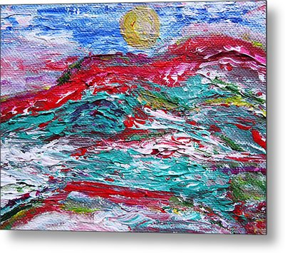 Mountain Colors Metal Print by Amy Drago