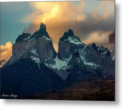 Metal Print featuring the photograph Mountain Evening by Andrew Matwijec